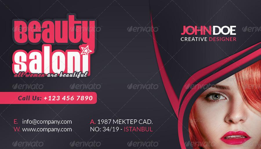 Beauty Salon Business Card Face Timeline By Grafilker