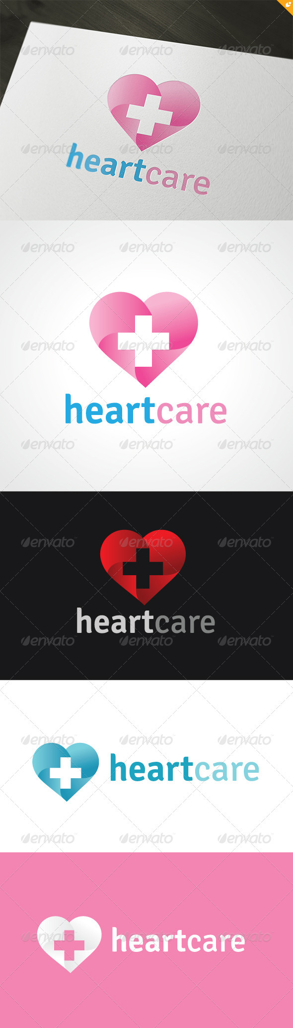 Heart Care Logo - Humans Logo Templates