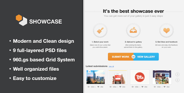 Showcase - Creative PSD Template
