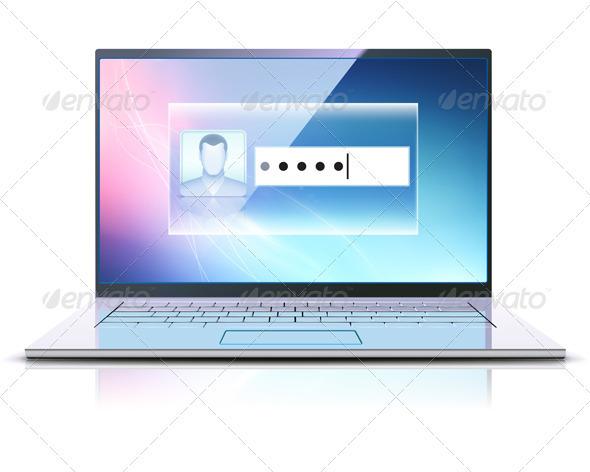 Login Screen Concept - Technology Conceptual