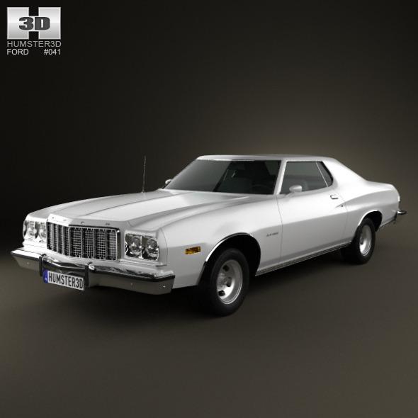 Ford Gran Torino hardtop 1974 - 3DOcean Item for Sale