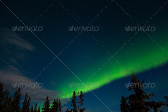 Aurora borealis (Northern lights) display - Stock Photo - Images