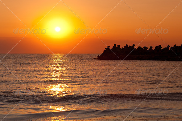 sunrise at sea - Stock Photo - Images