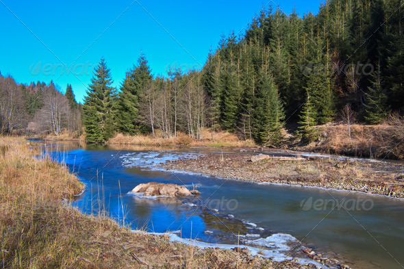 mountain river - Stock Photo - Images
