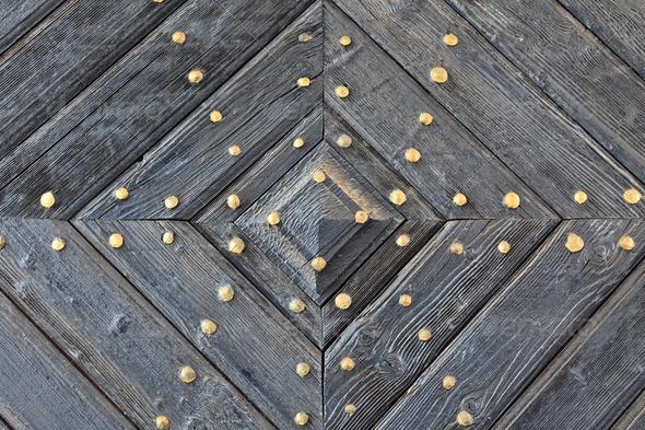 old wooden door - Stock Photo - Images