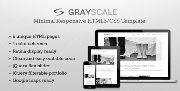 GrayScale – Responsive HTML5/CSS3 template