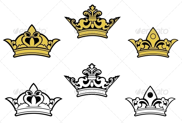 Heraldic Crowns - Decorative Symbols Decorative