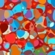 Beautiful Colorful Heart Shape Background - GraphicRiver Item for Sale