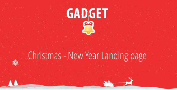 Gadget – Christmas – New Year Landing Page