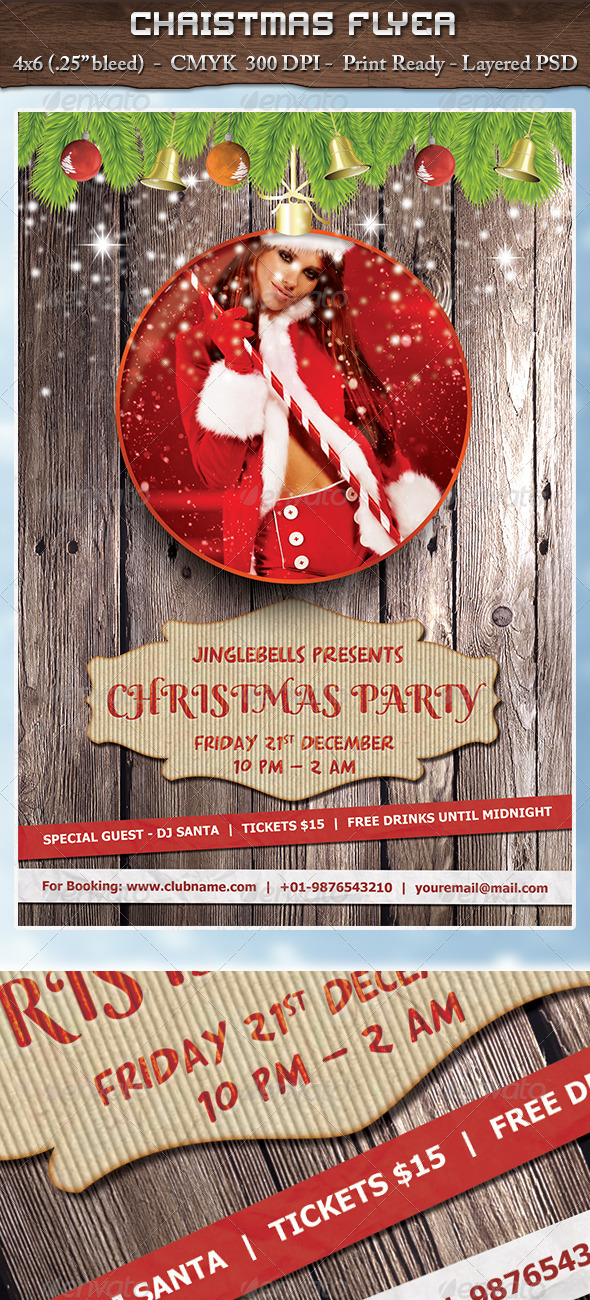 Christmas Party - Flyer - Clubs & Parties Events