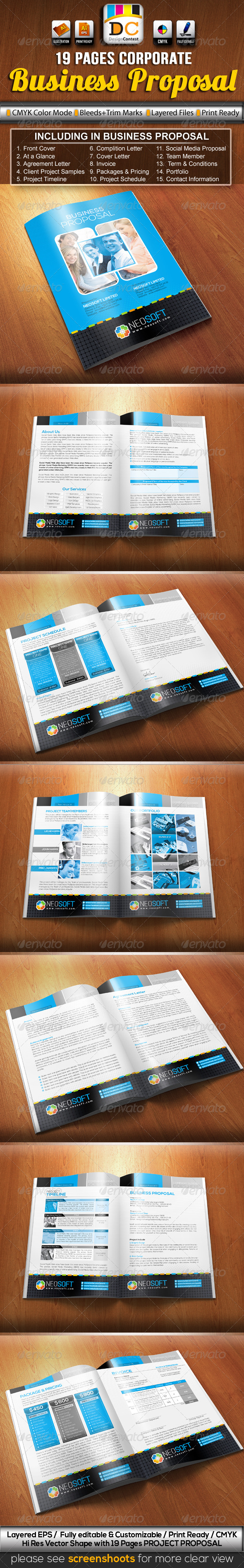 NeoSoft Business/Project Proposal - Proposals & Invoices Stationery