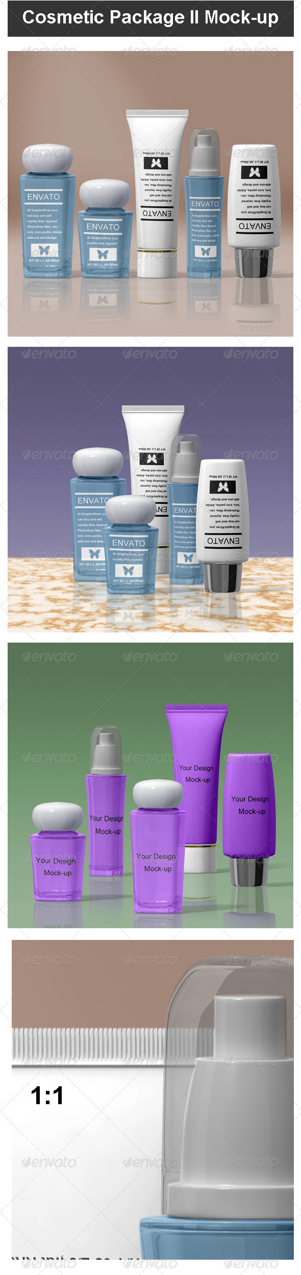 Cosmetic Package II Mock-up - Beauty Packaging