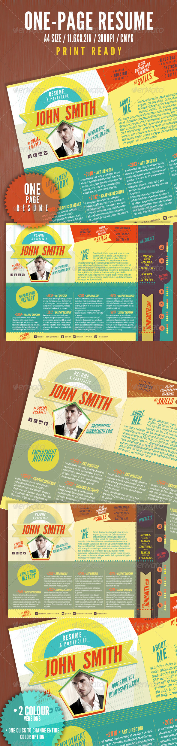 The One Page Resume - Resumes Stationery