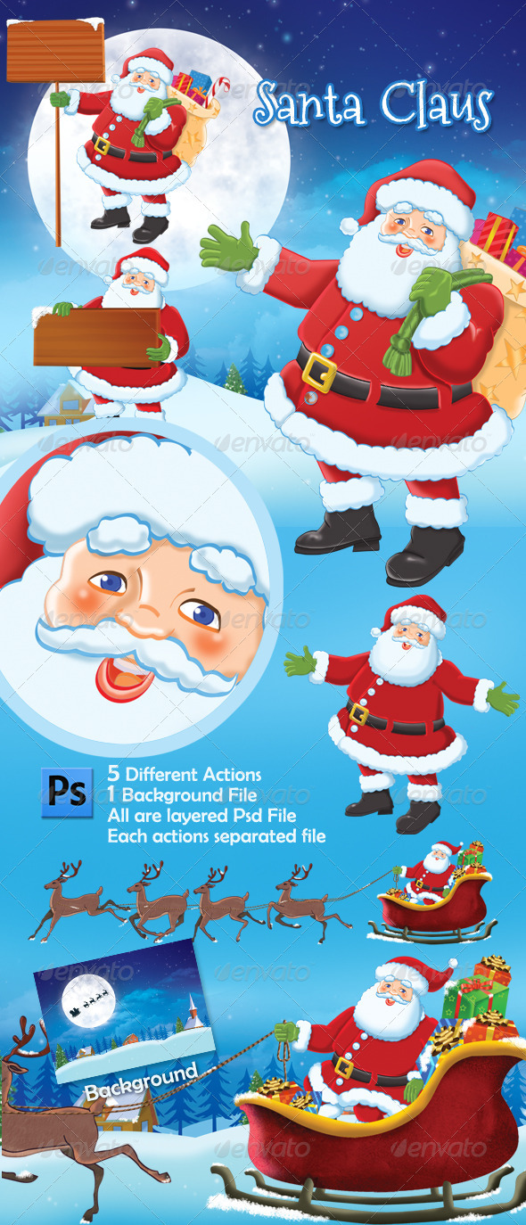 Santa Claus - Characters Illustrations