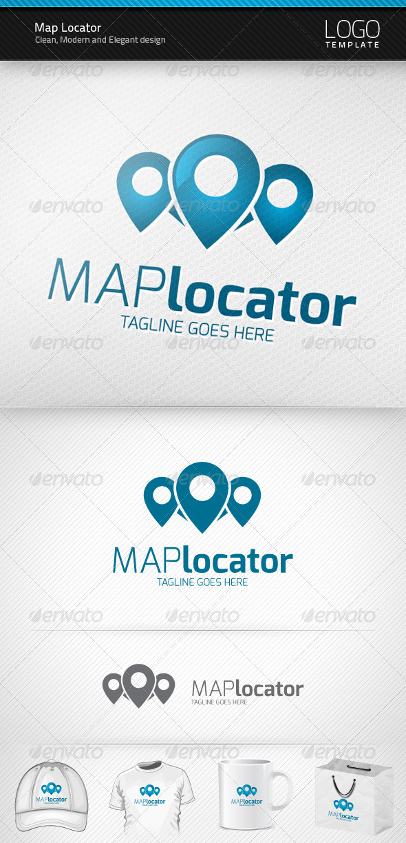 Map Locator Logo - Symbols Logo Templates