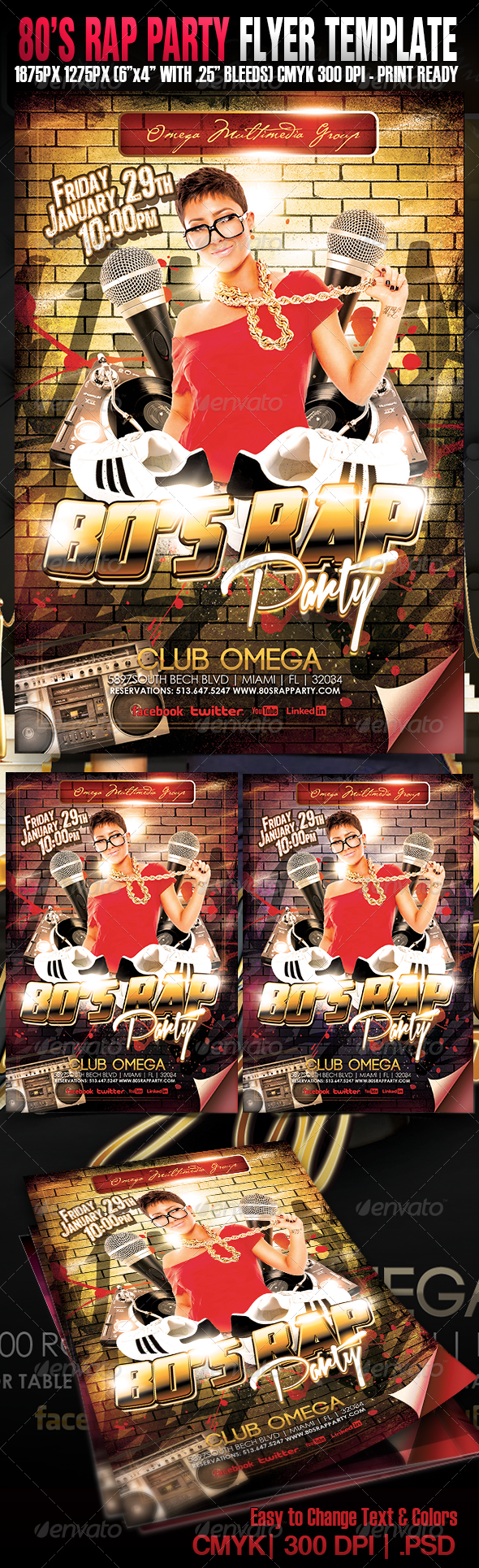 80's Rap Party - Events Flyers