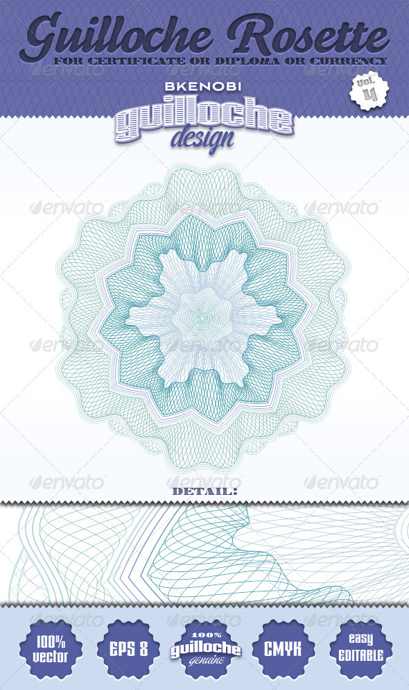 Guilloche Rosette Vol.4 - Decorative Symbols Decorative