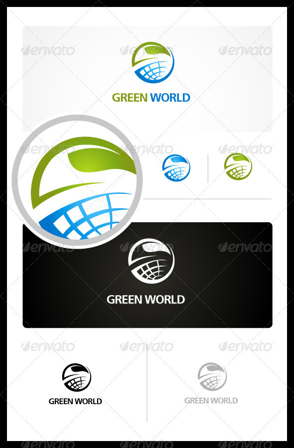 Green World - Vector Abstract