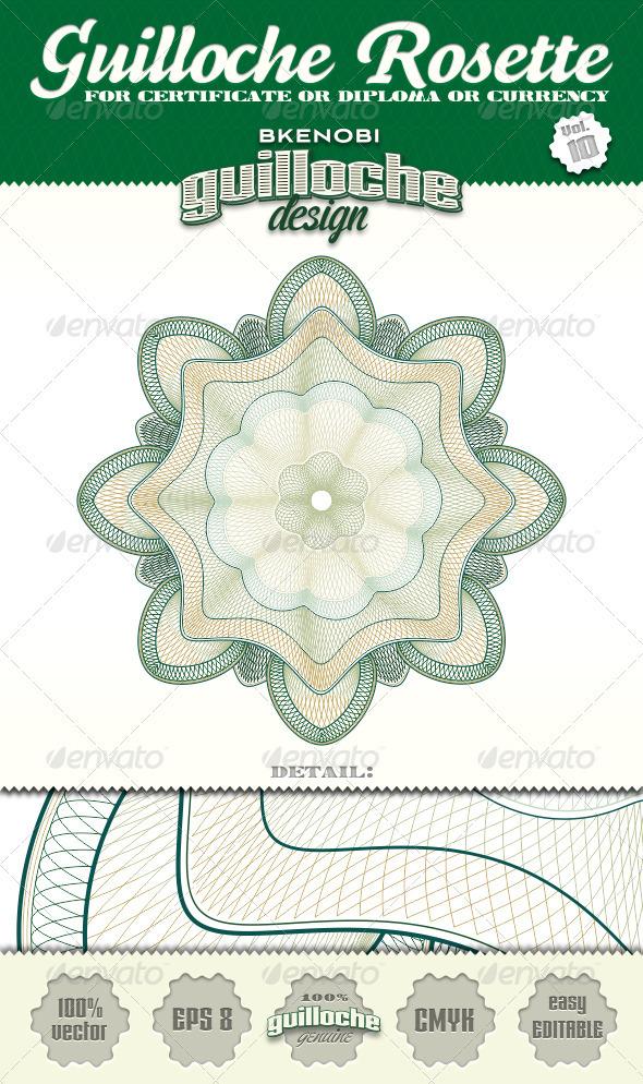 Guilloche Rosette Vol.10 - Decorative Symbols Decorative