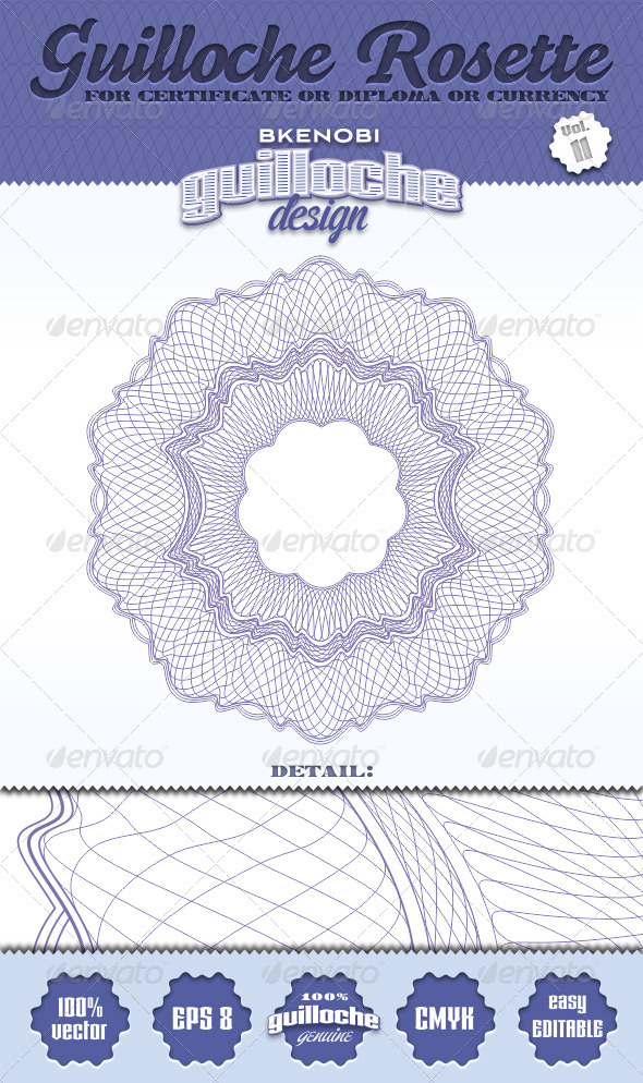 Guilloche Rosette Vol.11 - Decorative Symbols Decorative