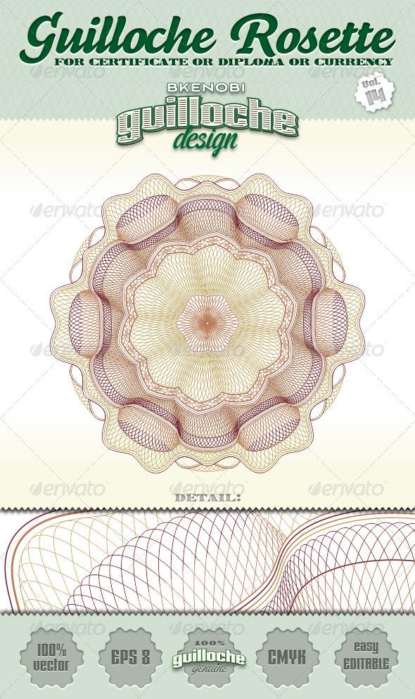 Guilloche Rosette Vol.14 - Decorative Symbols Decorative