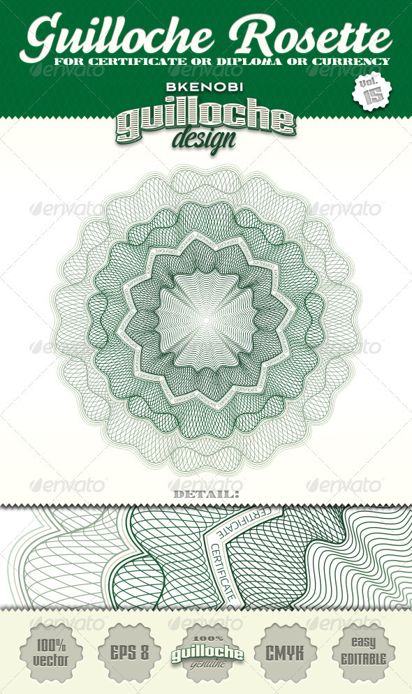 Guilloche Rosette Vol.15 - Decorative Symbols Decorative