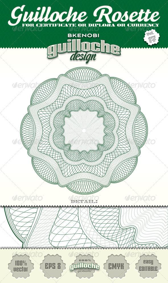 Guilloche Rosette Vol.17 - Decorative Symbols Decorative