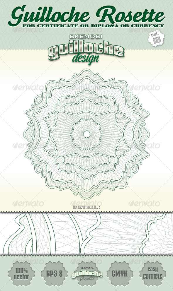 Guilloche Rosette Vol.18 - Decorative Symbols Decorative