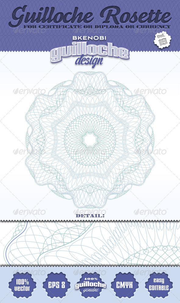 Guilloche Rosette Vol.19 - Decorative Symbols Decorative