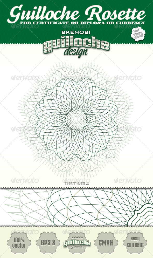 Guilloche Rosette Vol.20 - Decorative Symbols Decorative