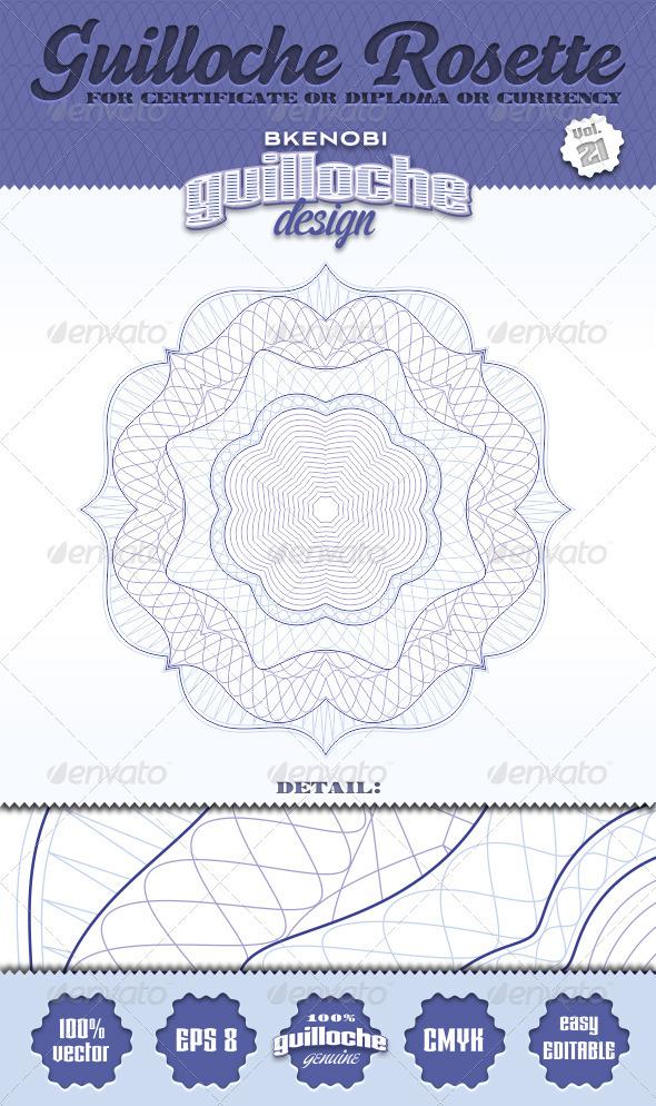 Guilloche Rosette Vol.21 - Decorative Symbols Decorative