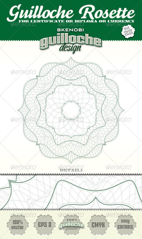 Guilloche Rosette Vol.23 - Decorative Symbols Decorative