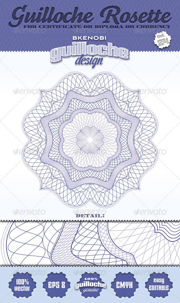 Guilloche Rosette Vol.24 - Decorative Symbols Decorative