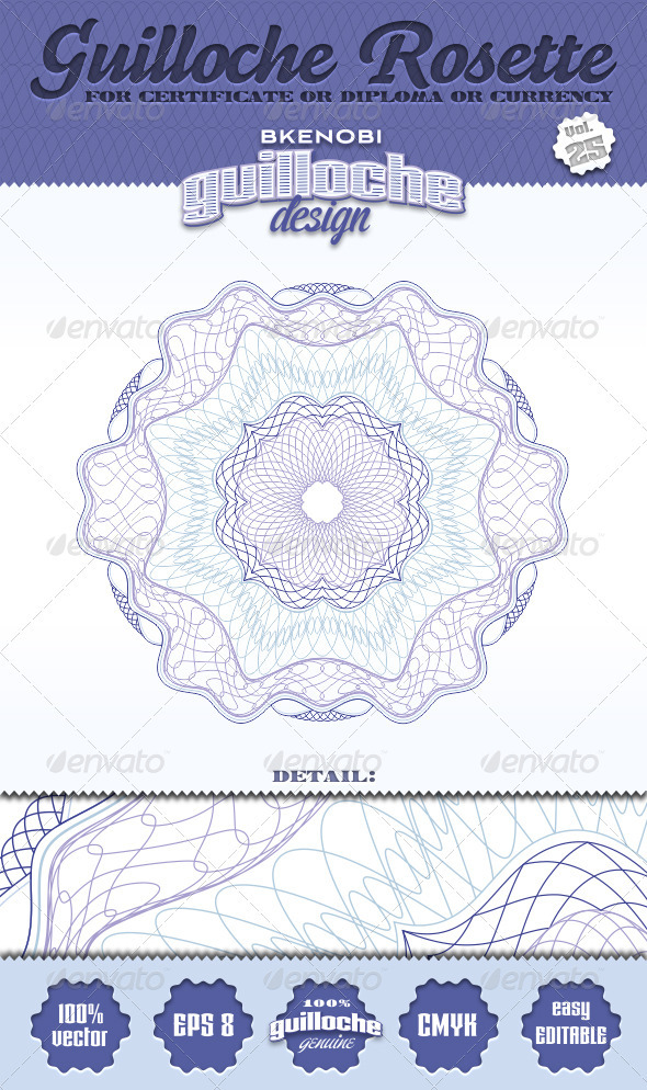 Guilloche Rosette Vol.25 - Decorative Symbols Decorative