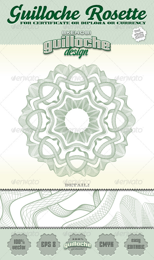 Guilloche Rosette Vol.26 - Decorative Symbols Decorative