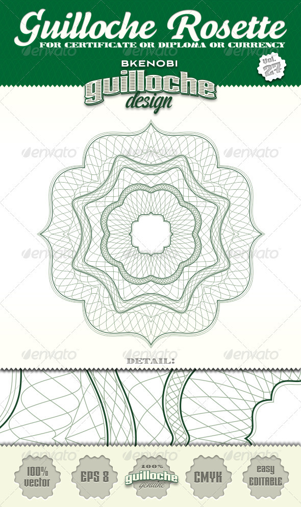 Guilloche Rosette Vol.27 - Decorative Symbols Decorative