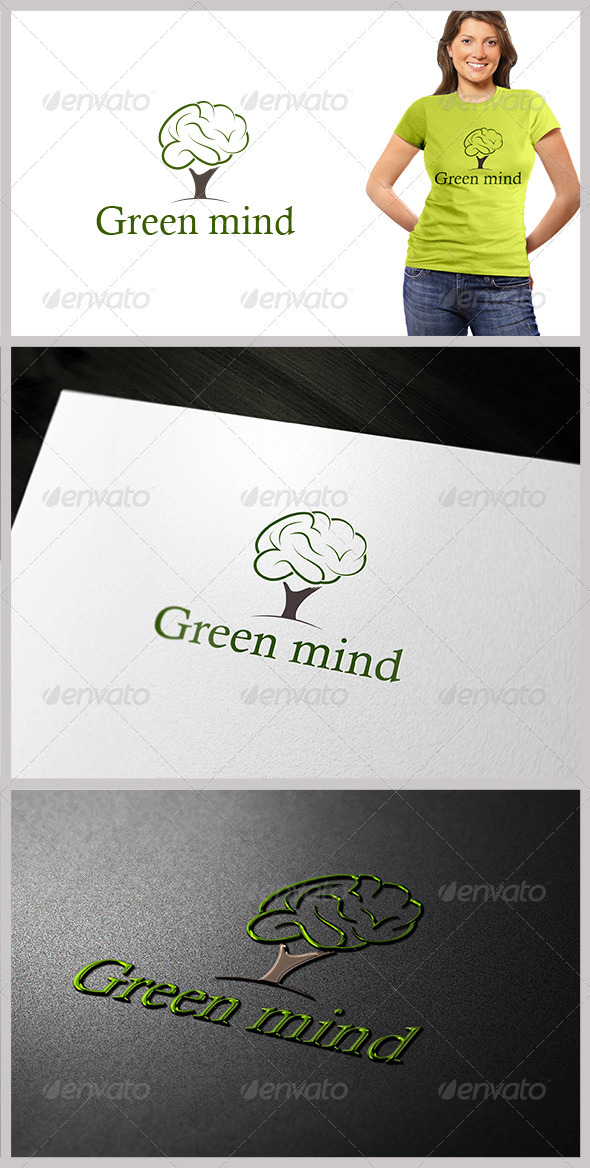 Green Mind - Objects Logo Templates