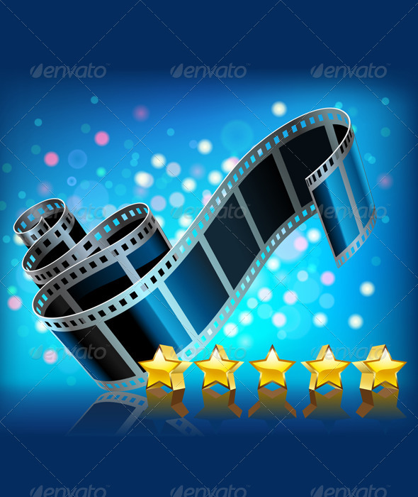 Filmstrip and Stars Set - Decorative Symbols Decorative