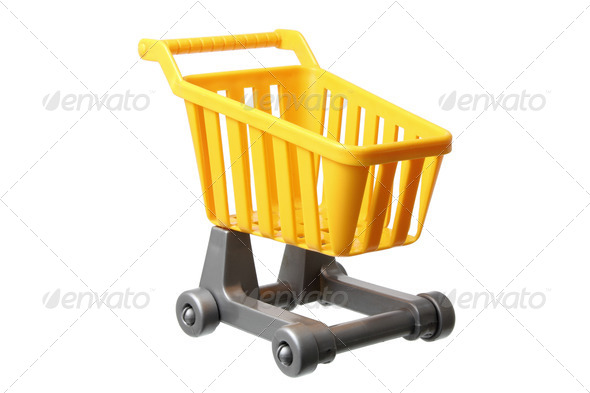 Miniature Shopping Trolley - Stock Photo - Images