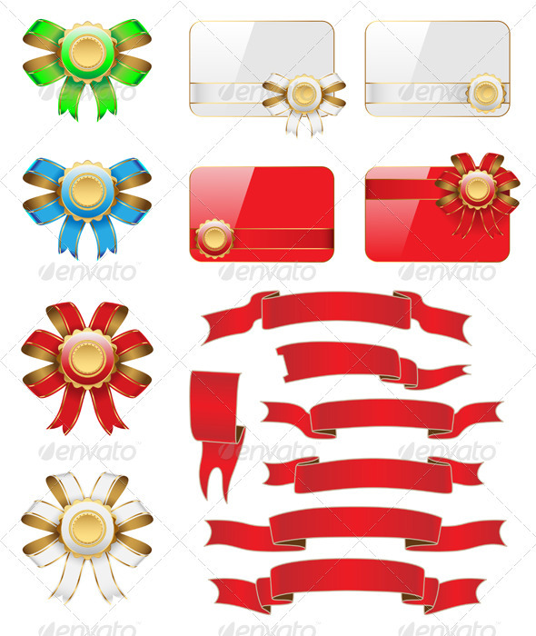 Bow Flag Card Set - Decorative Symbols Decorative