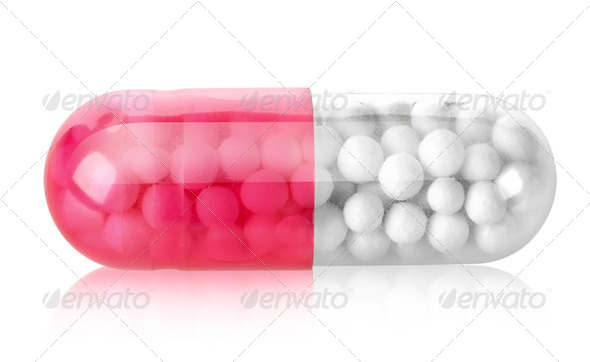 Red capsule - Stock Photo - Images
