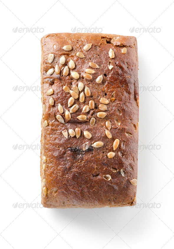 Bread with seeds isolated - Stock Photo - Images