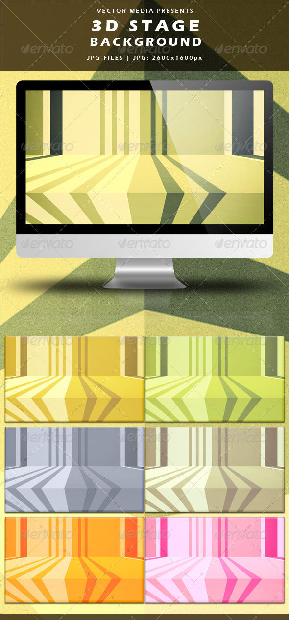 3D Stage Background - Backgrounds Graphics