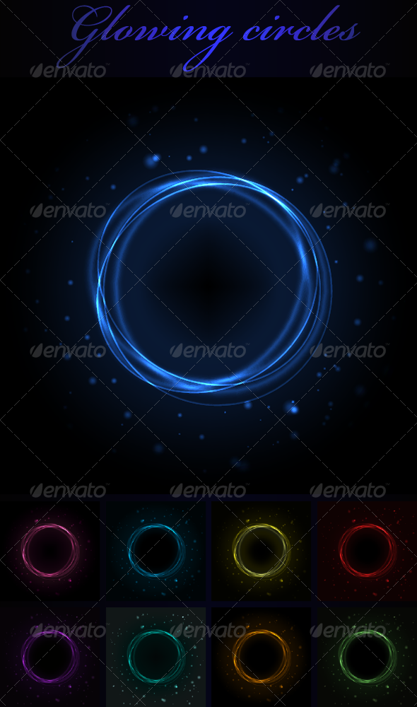 Glowing Circles - Backgrounds Decorative