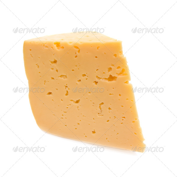 Cheese. Isolated on white background. - Stock Photo - Images