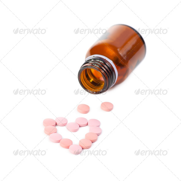 Open a bottle of spillage pills - Stock Photo - Images