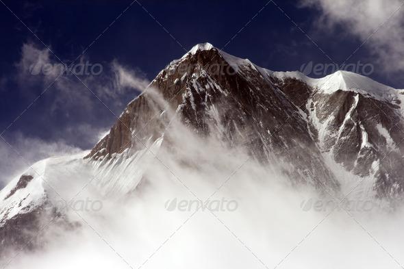 Snow peak mountain - Stock Photo - Images