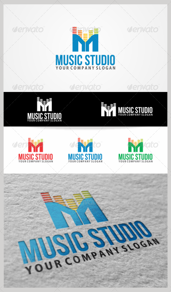 Music Studio Logo Template - Symbols Logo Templates