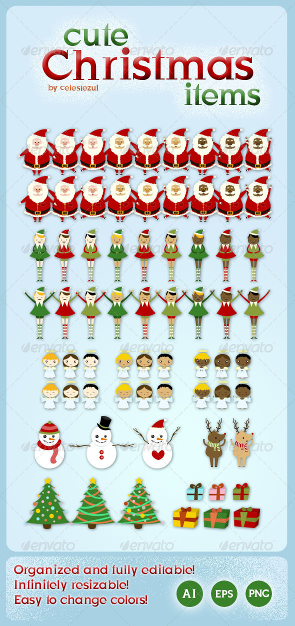 Cute Christmas Items - Christmas Seasons/Holidays