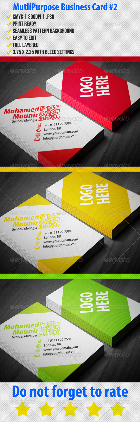 Multipurpose Business Card 2 - Corporate Business Cards